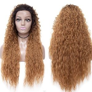 Synthetic Ombre Curly Lace Front Wig 26""